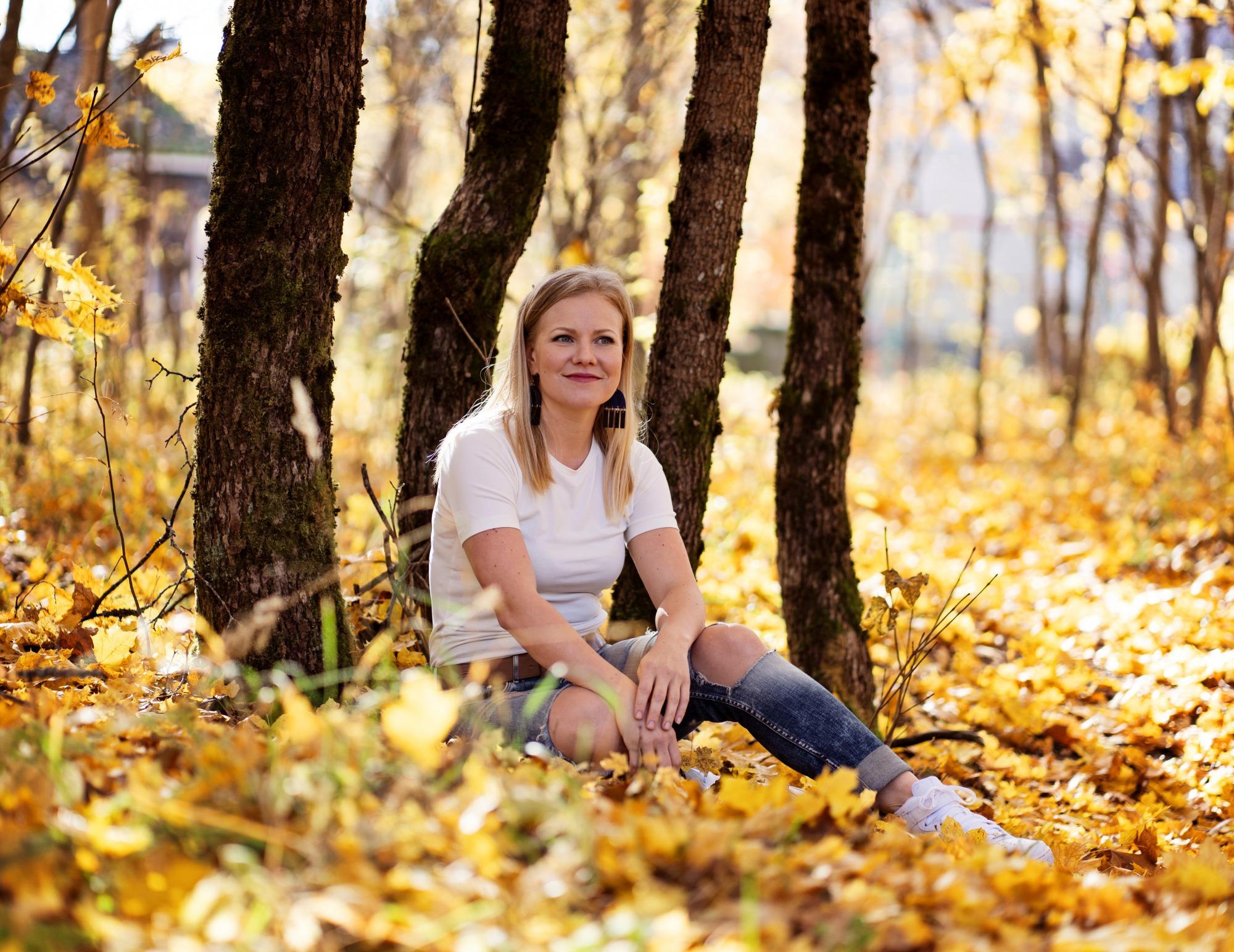 Jenni Aikio Kouvola-talon puistossa